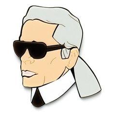 Karl Lagerfeld brooch - Yazbukey