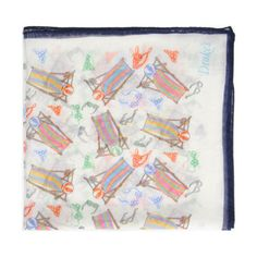 Beach inspired pocket square by Drakes London.
