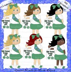 Girl Scouts 2 - Clipart Collection