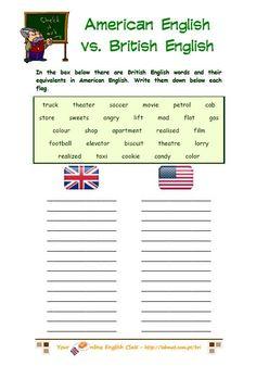 british and american english - exercises