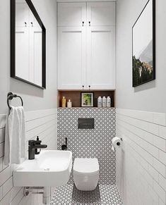 Location and gives extra storage space at the same time that helps to capture a spacious with a small bathroom decorating ideas . Small Toilet Design, Bathroom Layout, Modern Bathroom Design, Bathroom Interior Design, Toilet And Bathroom Design, Bathroom Ideas, Condo Bathroom, Bathroom Makeovers, Small Downstairs Toilet