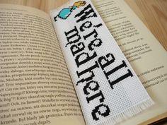 Cross stitch bookmark - Alice in Wonderland by MariAnnieArt on Etsy
