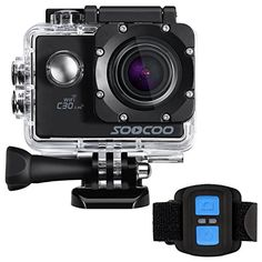4k WIFI Sports Action Camera, SOOCOO Action Camera Waterproof 20MP 170 Degree Wide Angle Sports Video Camera 2 inch LCD Screen/2.4G Remote Control/32GB Micro SD Card/2 Batteries/19 Mounting Kits-Black - http://allcamerasportal.com/4k-wifi-sports-action-camera-soocoo-action-camera-waterproof-20mp-170-degree-wide-angle-sports-video-camera-2-inch-lcd-screen2-4g-remote-control32gb-micro-sd-card2-batteries19-mounting-kits-black/