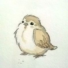 I want to pinch it's fat little cheeeeks. Love it. little bird sketch and watercolor – mike martin I want to pinch it's fat little cheeeeks. Love it. little bird sketch and watercolor – mike martin Art And Illustration, Illustrations, Bird Drawings, Animal Drawings, Ink Pen Drawings, Watercolor Bird, Watercolor Paintings, Tattoo Watercolor, Watercolor Ideas
