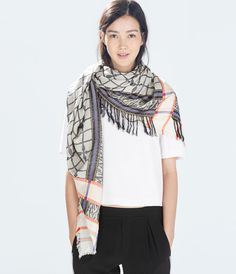 Zara Cozy Plaid Scarf, US$ 29.95