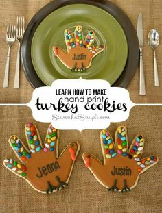 Learn How To Make Hand Print Turkey Cookies