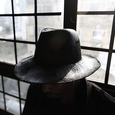 5ed0904d562 ByTheR Men s Round Black Paint Custom Detail Wool Fabric Made Felt Fedora  Hat