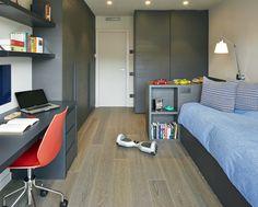 Molins Interiors // arquitectura interior - interiorimo - decoración - dormitorio - infantil - juvenil - azul - gris