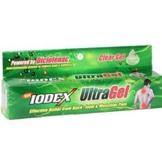 Iodex Ultra Clear Gel With Diclofenac For Pains
