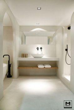 Apartment: A Stylish Apartment Designed with Black-White.- Apartment: A Stylish Apartment Designed with Black-White and Modern Interior Stylish Modern Bathroom Design 65 - Bad Inspiration, Bathroom Inspiration, Bathroom Ideas, Bathroom Taps, Remodel Bathroom, Bathroom Furniture, Bathroom Cabinets, Budget Bathroom, Bathroom Colors