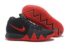 Men s Size Nike Kyrie 4 Black Red Basketball Shoes Lebron 16 930f7ea70