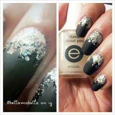 My new years eve nails. Bling bling #manicure #nails #nailart #matte