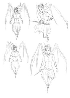 Early sketches of an active Shea.