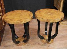 Pair Biedermeier Art Deco Side Tables Furniture