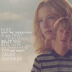 "Revenge-""You may be deceived if you trust too much but you will live in torment if you do not trust enough"""