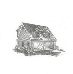 24x24 2 Car TD Full Shed Loft & Ext RS Loft Door Garage Building Blueprint Plans | Home & Garden, Home Improvement, Building & Hardware | eBay!
