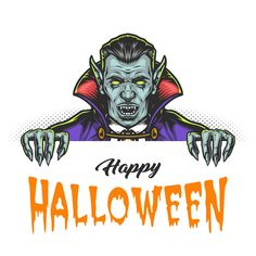 Colorful Vampire vector illustration created for Halloween designs bundle. It's available to download on www.dgimstudio.com. Perfect for t-shirt and another apparel designs. 15% OFF now! #vampire #vector #halloween #happyhalloween #halloweenparty #halloweencostume