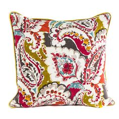 Coral Range Scatter Cushion x with Duck Feather Inner Throw Pillows, Paisley, Fabric, Cushion Fabric, Hertex Fabrics, Scatter Cushions