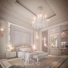 Rich Girl Bedroom, Fancy Bedroom, Master Bedroom Interior, Bedroom Green, Room Ideas Bedroom, White Bedroom, Diy Bedroom, Royal Bedroom, Modern Luxury Bedroom