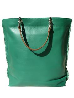 design your own bag, mix and match the handles  Gajumbo Pebble Bag Emerald Green Red Blue Mustard by IMPERIO jp