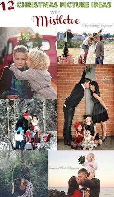 12 Christmas Picture Ideas with Mistletoe. I can't believe it will be the holidays soon and I have to plan for the family Christmas photo! These fun creative ideas are the best. One might even make it to the family Christmas card.
