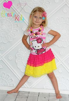 Ruffle Fabric Skirt FREE tutorial from Create Kids Couture