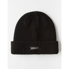 Adidas Waffle Knit Beanie ($22) ❤ liked on Polyvore featuring accessories, hats, adidas hat, waffle beanie, waffle knit beanie, adidas beanie and adidas
