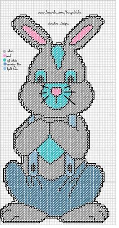 Bunny Plastic Canvas Ornaments, Plastic Canvas Christmas, Plastic Canvas Crafts, Bunny Crafts, Easter Crafts, Easter Projects, Easter Decor, Plastic Canvas Stitches, Plastic Canvas Patterns