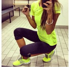 Neon gym wear!