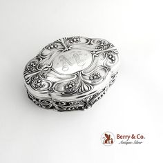 Jewelry Dresser, Jewelry Box, Art Nouveau Jewelry, Natural Forms, Silver Stars, Jewelry Organization, Antique Silver, Monogram, Sterling Silver