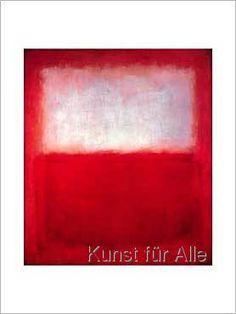 Mark Rothko - White over Red