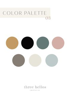 Branding Color Palette, Color Inspiration, Wedding Color Inspiration, Color Theory, Three Hellos Creative Co. Color Palette For Home, Neutral Color Scheme, Neutral Colour Palette, Colour Schemes, Modern Color Schemes, Three Color Combinations, Interior Design Color Schemes, Mauve Color, Nursery Color Schemes