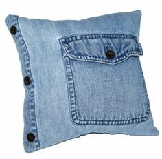 50 Cushion Covers Off Jeans - DIY Pillow Cases From Reusable Materials Jean Crafts, Denim Crafts, Diy Jeans, Sewing Pillows, Diy Pillows, Shirt Pillows, Throw Pillow, Denim Ideas, Denim Bag