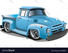 Buy Cartoon Hotrod by Mechanik on GraphicRiver. Available and EPS vector formats separated by groups and layers for easy edit. More cartoon cars and transporta. Hot Rod Trucks, Old Trucks, Pickup Trucks, Classic Trucks, Classic Cars, Carros Retro, Train Illustration, Truck Detailing, Truck Art