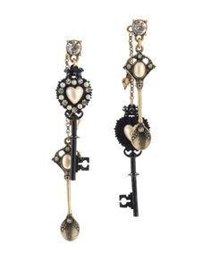 Love these! Gothic and dark, but with a modern twist. I love the random teaspoon charm. Weird but it works!
