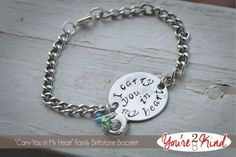I Carry You In My Heart Family Bracelet by Youre2Kind on Etsy