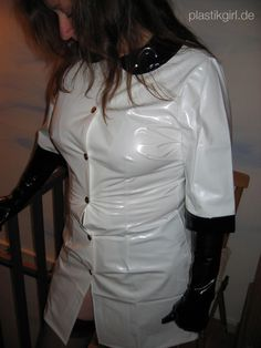 Amateur wearing a PVC Nurse Outfit from kemo-cyberfashion.de