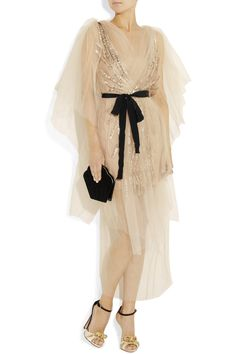 This one's only 7.5 times more expensive than my wedding dress. Vionnet Embellished Silk-Tulle Satin Dress, $5,400.