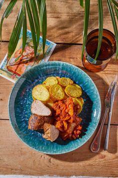 Szűzpecsenye lecsós burgonyával recept | Street Kitchen