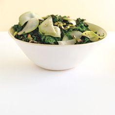 Sautéed Kale with Kohlrabi
