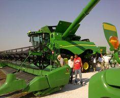 John Deere S680 Combine at Farm Progress Show in Boone, Iowa