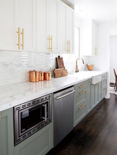 22 Ways to Make the Most of Your Decorating Dollars. SmittenKitchen. Paint wimbourne white and pigeon. Farrow and Ball.