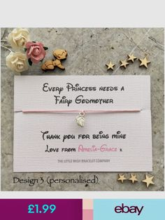 The Little Wish Bracelet Company Bracelets Jewellery & Watches Baptism Gifts, Wish Bracelets, Fairy Godmother, Thank You Gifts, Christening, Place Card Holders, Jewellery, Watches, Ebay