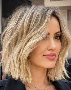Short Wavy Haircuts, Hairstyles Haircuts, Short Summer Hairstyles, Long Bob Hair Cuts, Short Lobs, Lob Haircut Straight, Hairstyles For Medium Length Hair, Blonde Bob Hairstyles, Short Hair Cuts For Women