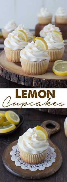 Lemon Cupcakes - perfect lemon cupcakes with a light lemon buttercream frosting.