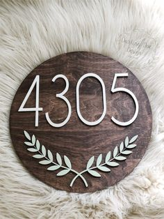 Excited to share the latest addition to my shop: Address sign House Address Sign, House Address Numbers, Address Signs, Wooden Keychain, Ceramic Mosaic Tile, Diy Wood Signs, Wine Glass Charms, Wood Rounds, Round Round