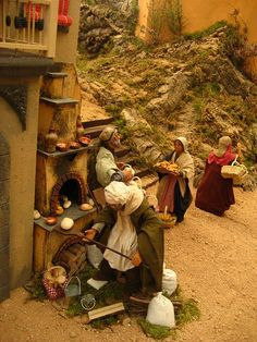 Amazing Neapolitan Nativity Scene at a mall in Valencia, Spain - photo by Laura/ travelocafe;  This is an elaborate nativity scene where the Savior's birth and the Wise Men are not the main focus. The scene shows the people of the time and the types of things that might have been going on in Bethlehem when Jesus was born.  (Click to see more photos.)
