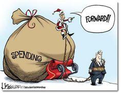 obama-spending-xmas-political-cartoon