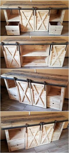 Ideas and projects for rustic pallet wood Rustic home decor and design . - Ideas and projects for rustic pallet wood Rustic home decor and design ideas. – Ideas and project - Easy Woodworking Projects, Diy Pallet Projects, Woodworking Plans, Woodworking Furniture, Diy Projects With Wood, Diy Projects To Build, Glazing Furniture, Woodworking Articles, Reclaimed Wood Projects