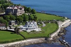 The Breakers and other magnificent mansions of Newport, Rhode Island.